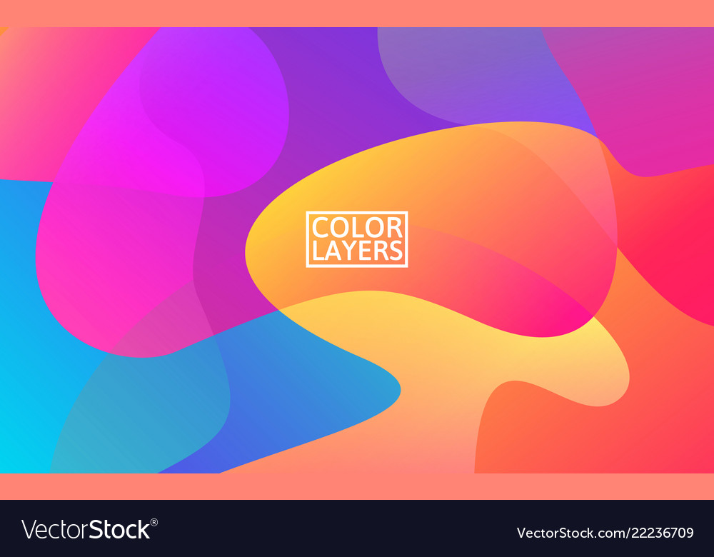 Colorful shapes trendy abstract background