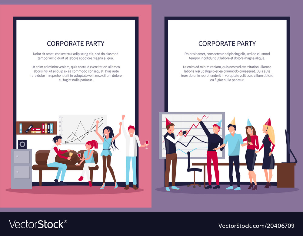 Corporate party set of two on