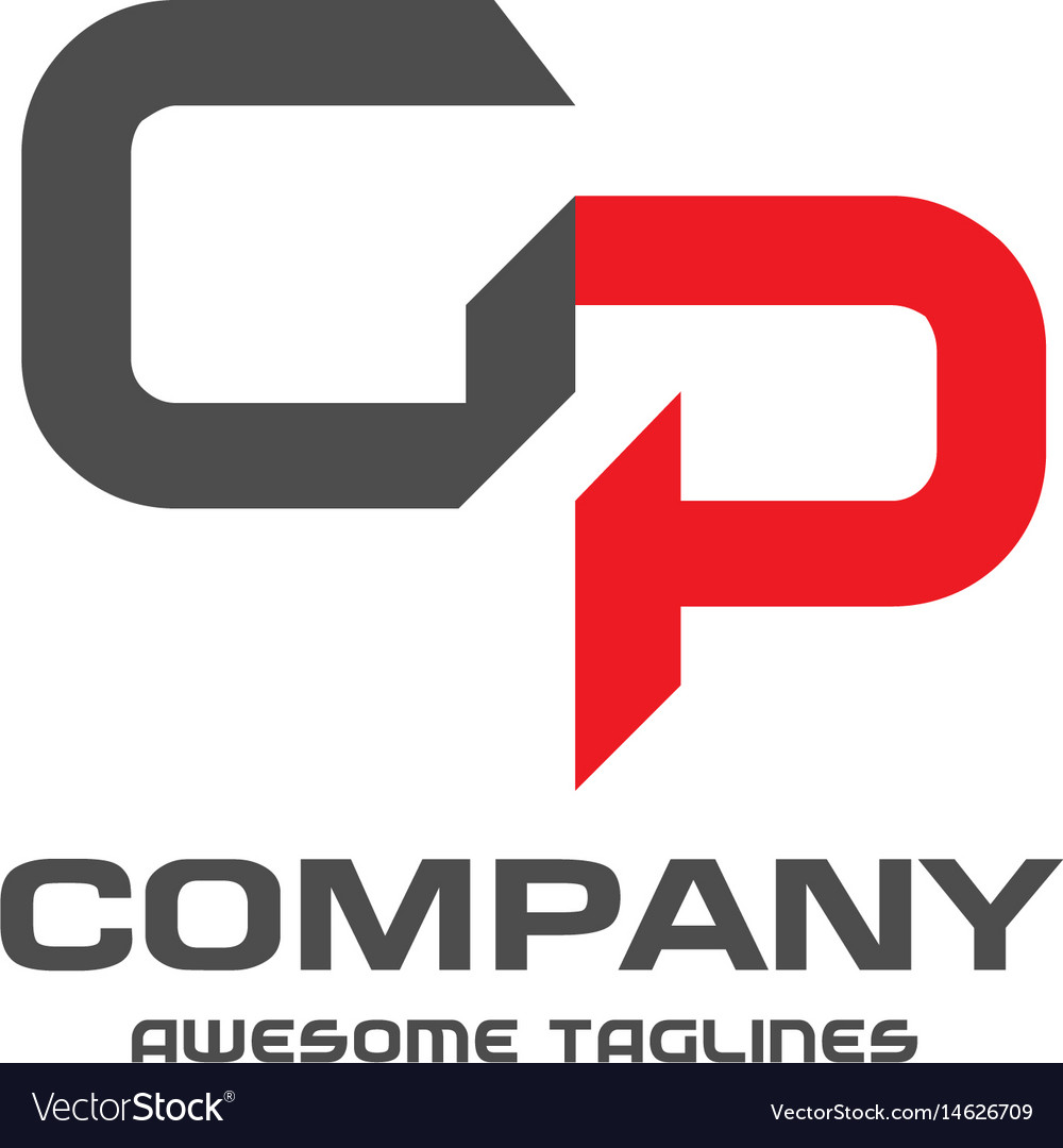 Gp letter logo design