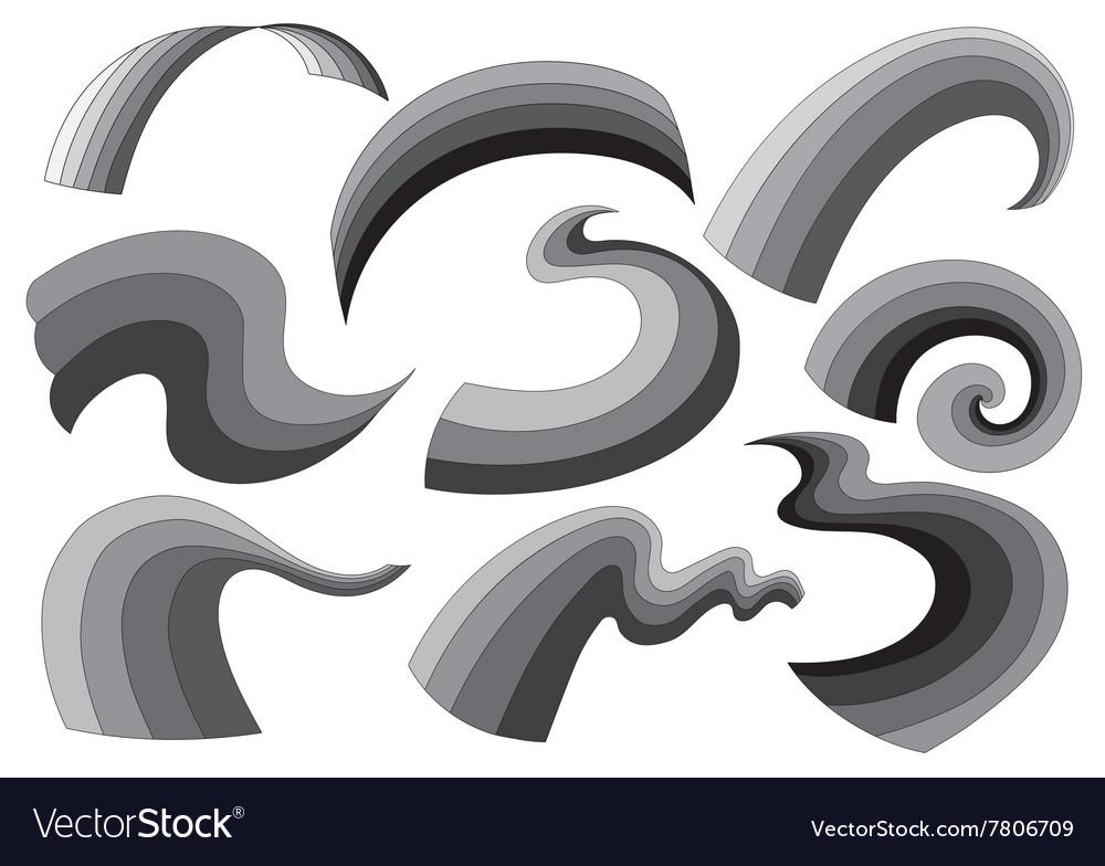 Gray decorative elements