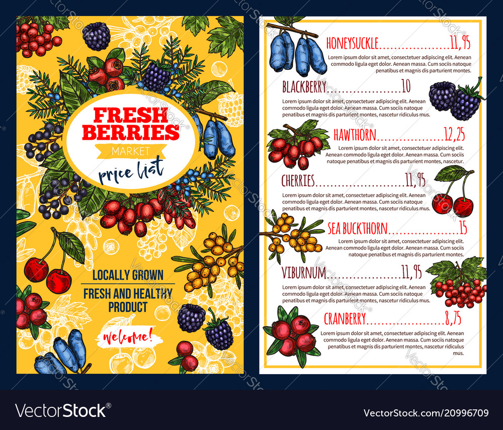 Price with fresh berries