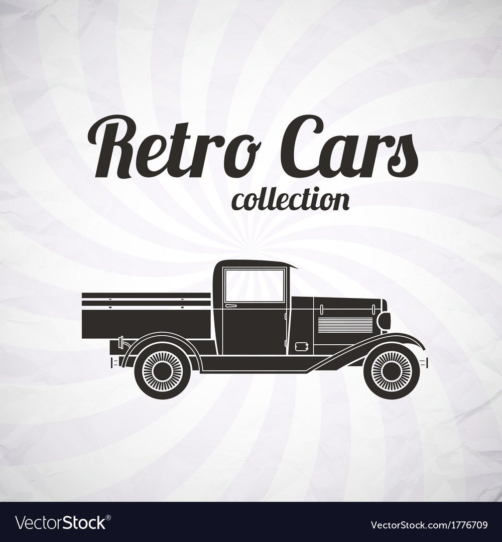 Retro pickup truck car vintage collection