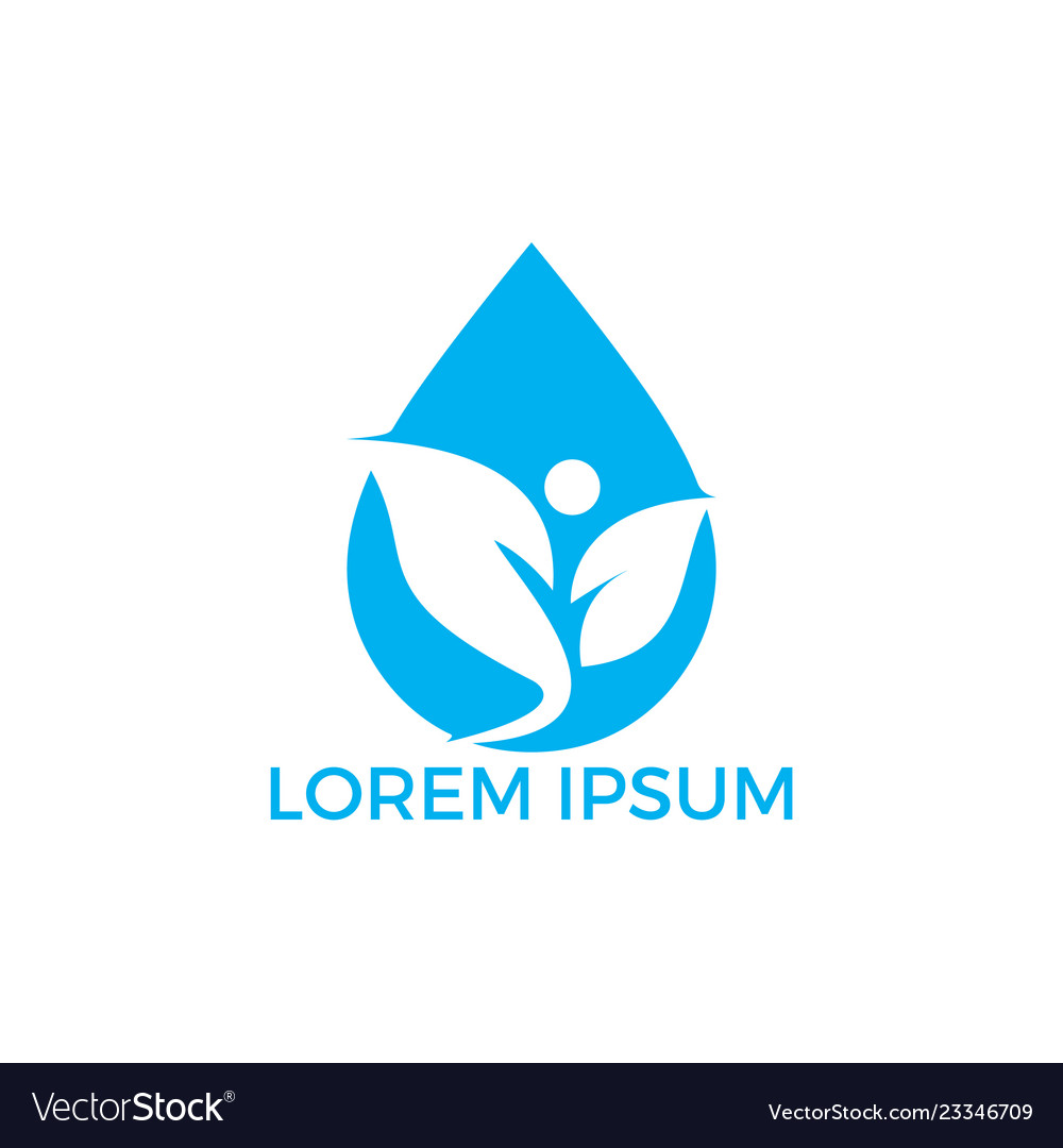 Spa water drop logo design