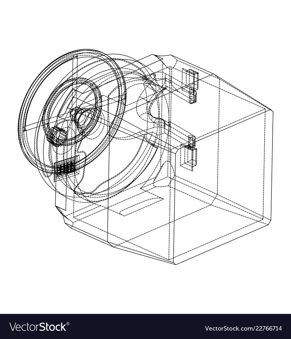 3d model of the safe on a white