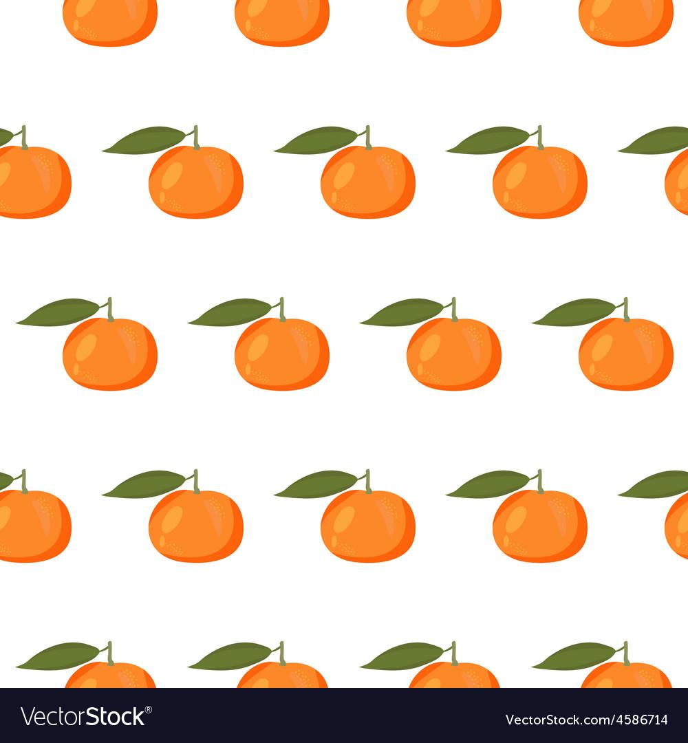 Cute seamless pattern with mandarins