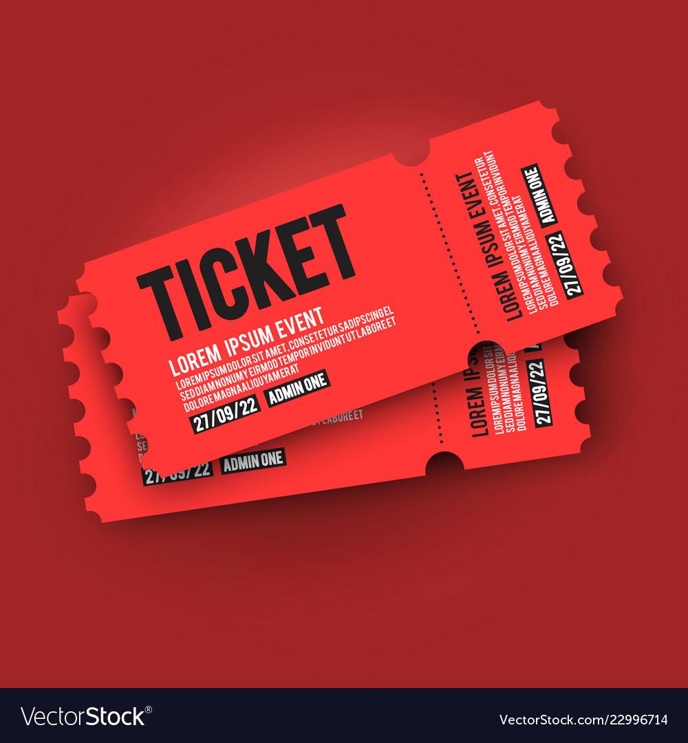 Ed Vip Entry P Ticket Stub Design Template Vector Image
