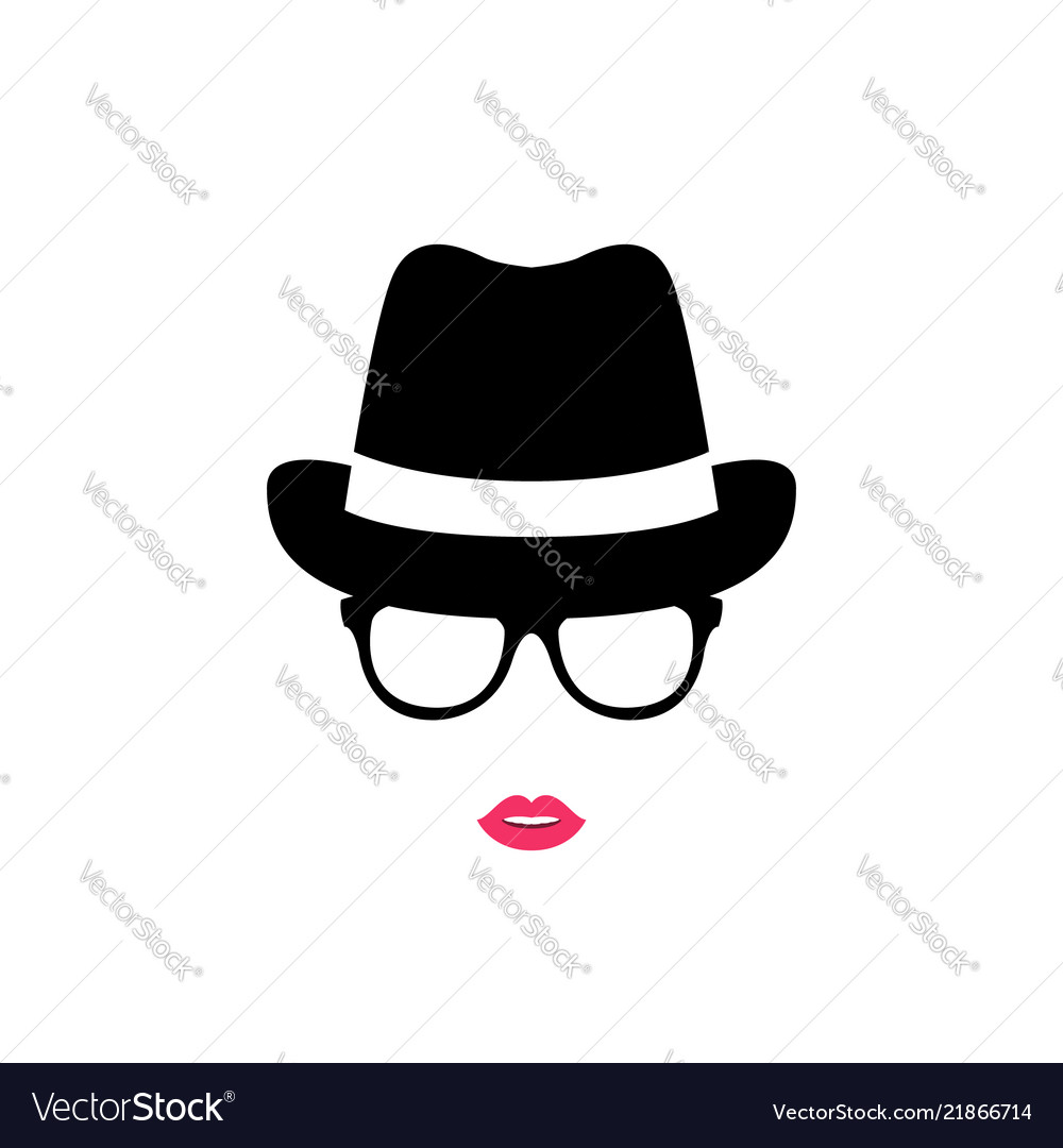 Girl in a hat and glasses