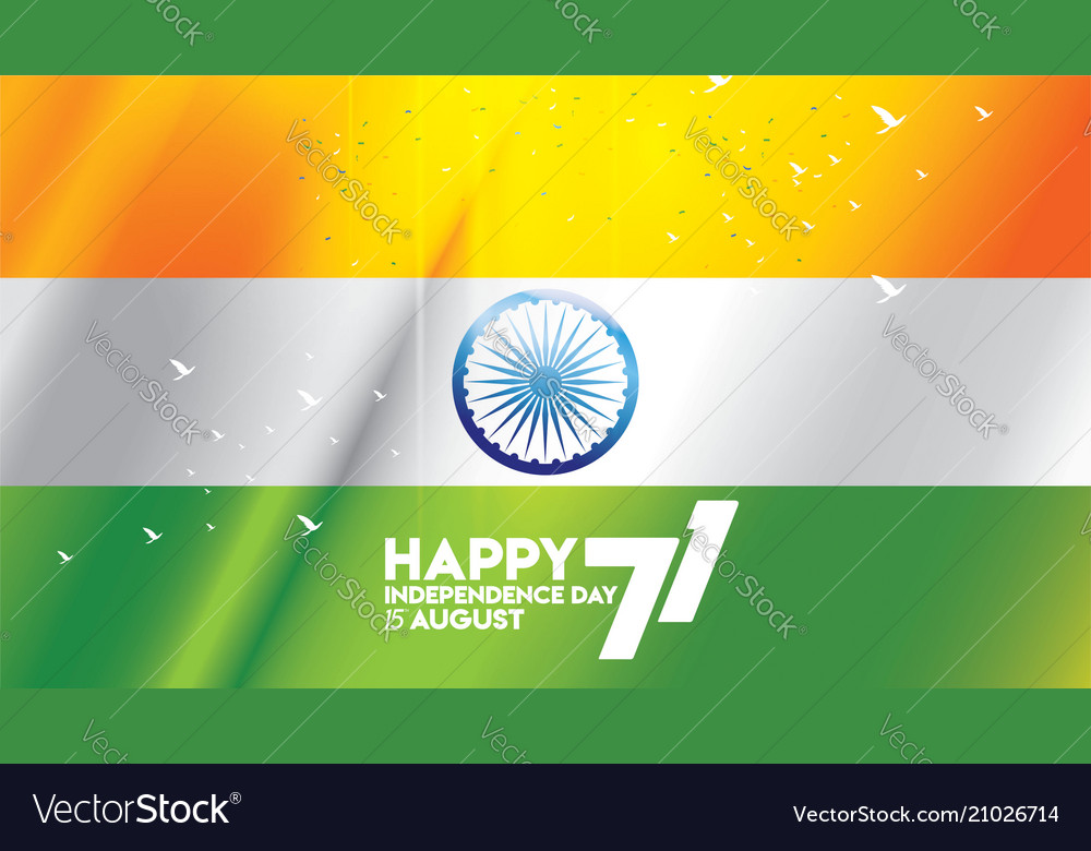 Indian independence day flag