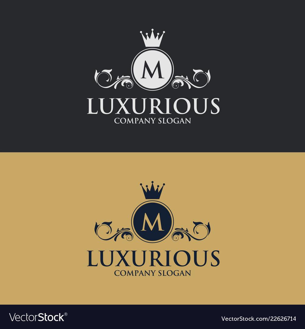 Luxury floral decorative logo