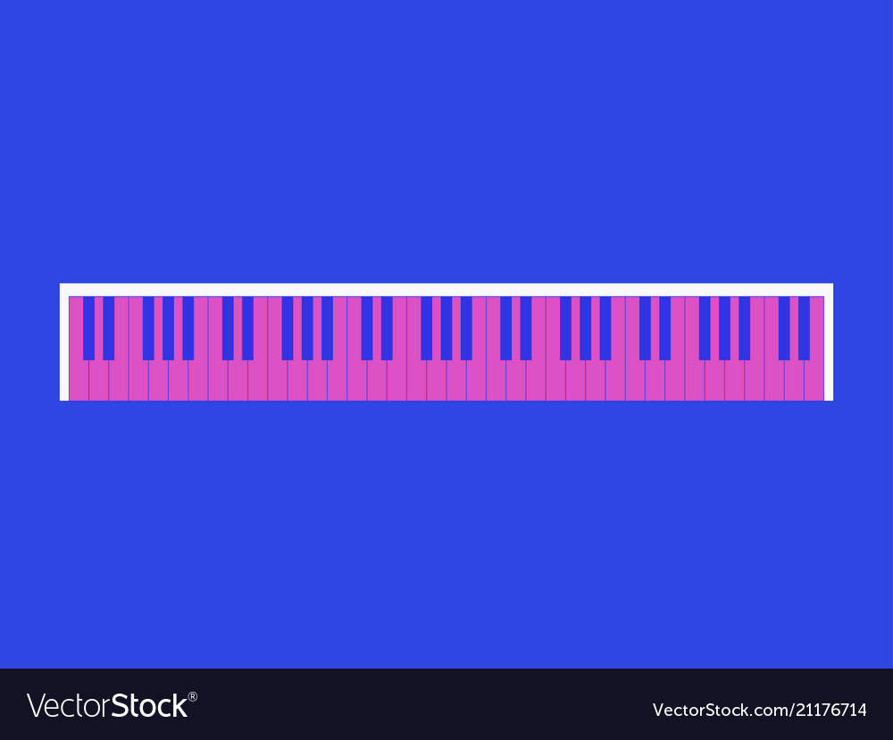 Piano keys retro style 80s pink and blue