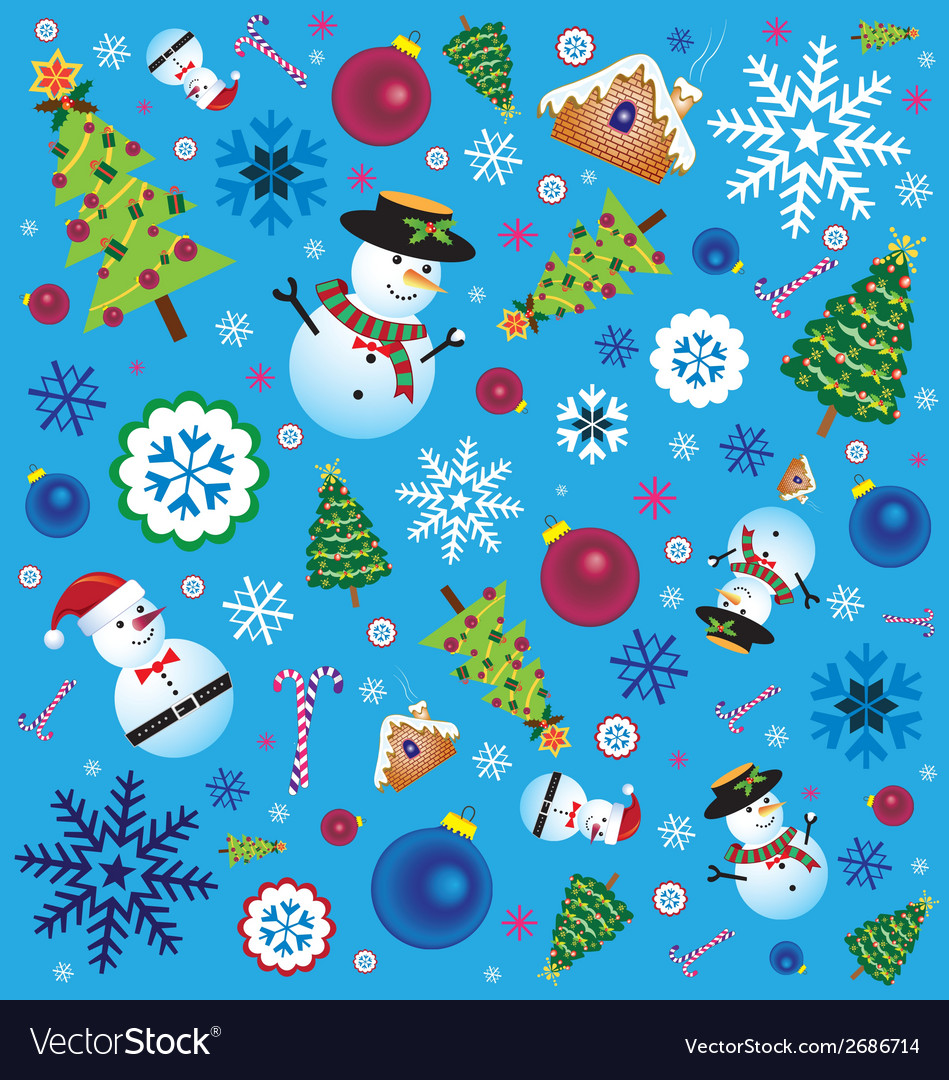Retro Christmas Element vector image