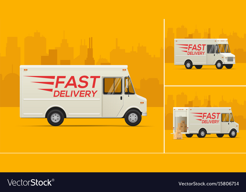 The delivery truck