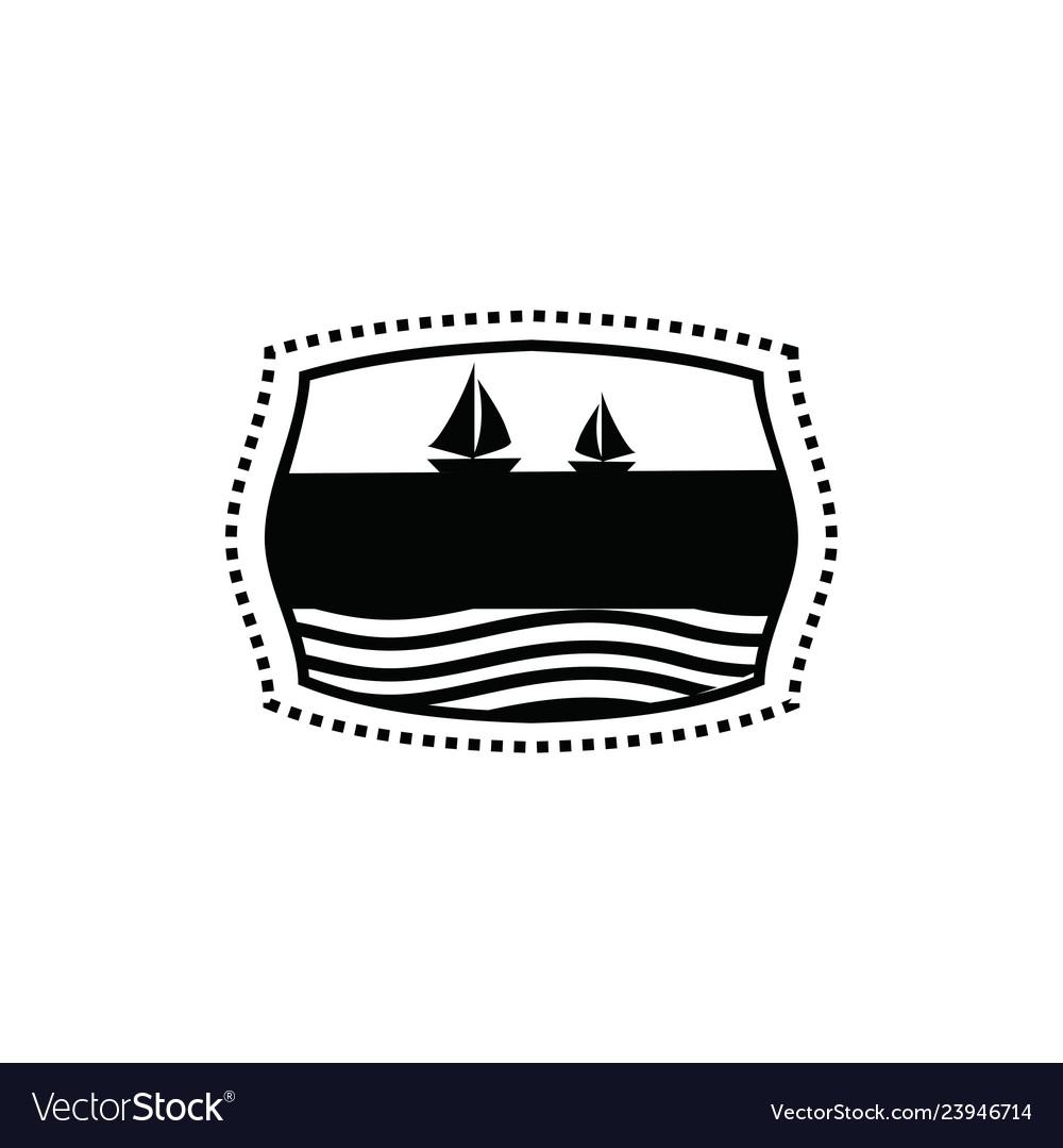 Vintage sailor badge logo design