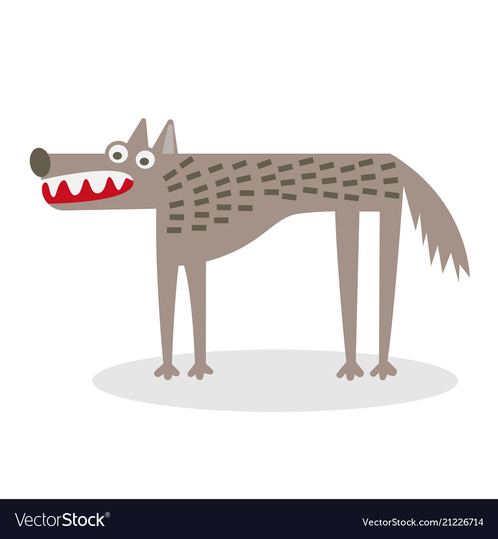 Wolf flat vector image