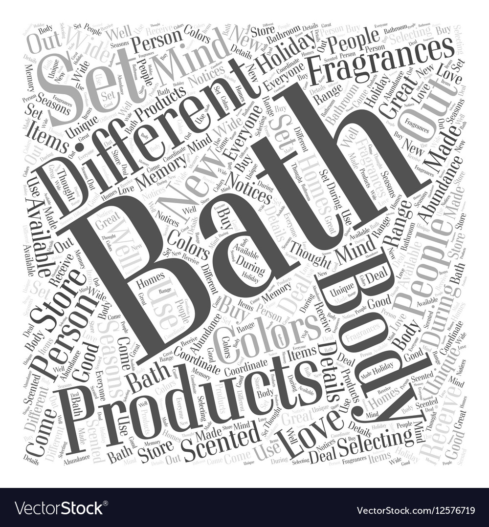 Bath and body Word Cloud Concept