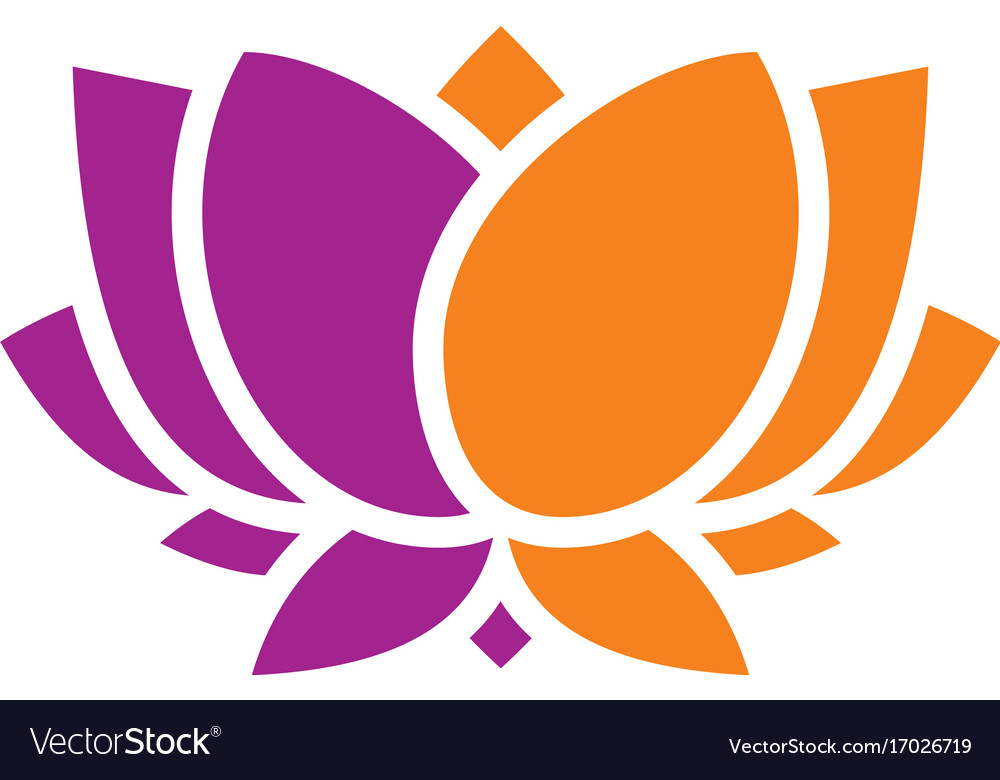 Beauty abstract lotus flower logo