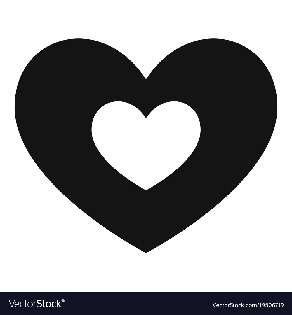 Double Heart Icon Simple Style Royalty Free Vector Image