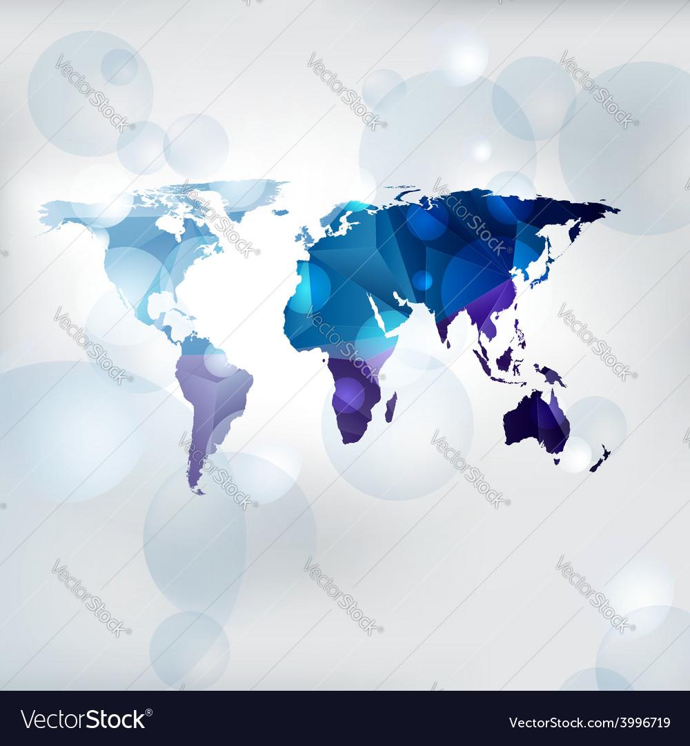 Edgy world map