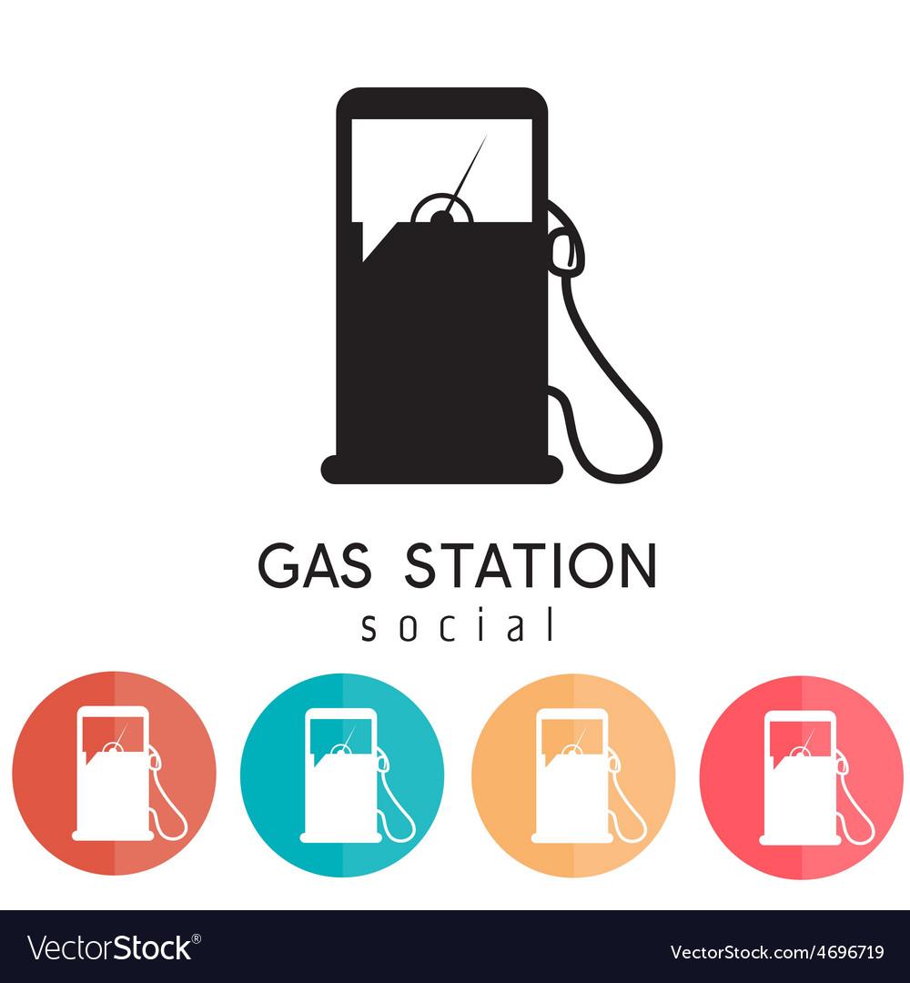 Gas station social design template