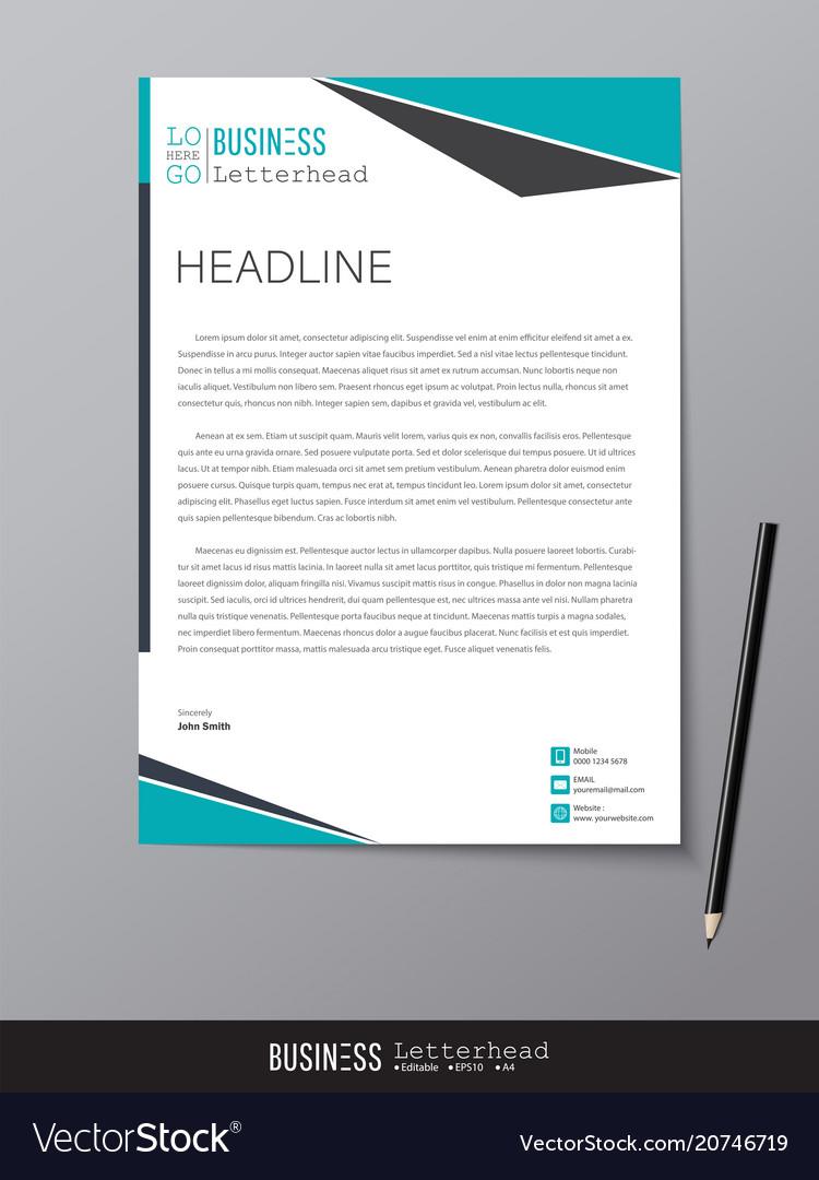 Letterhead Design Template And Mockup Minimalist Vector Image
