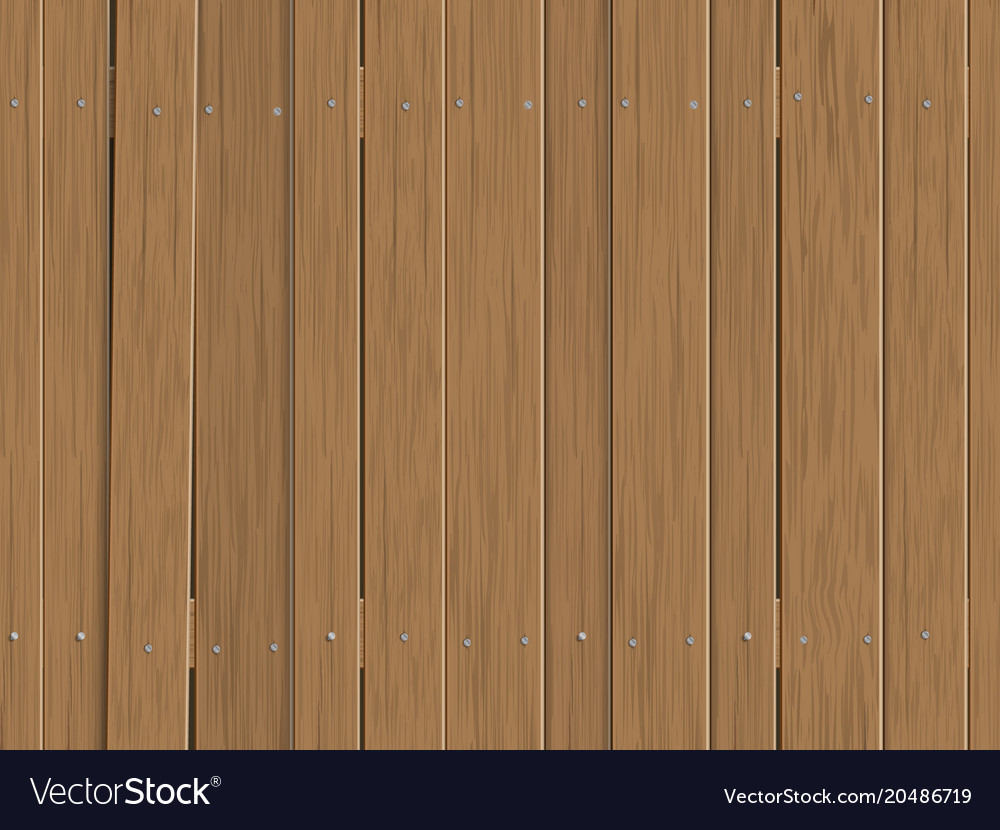Old Wooden Fence Background Vector Image