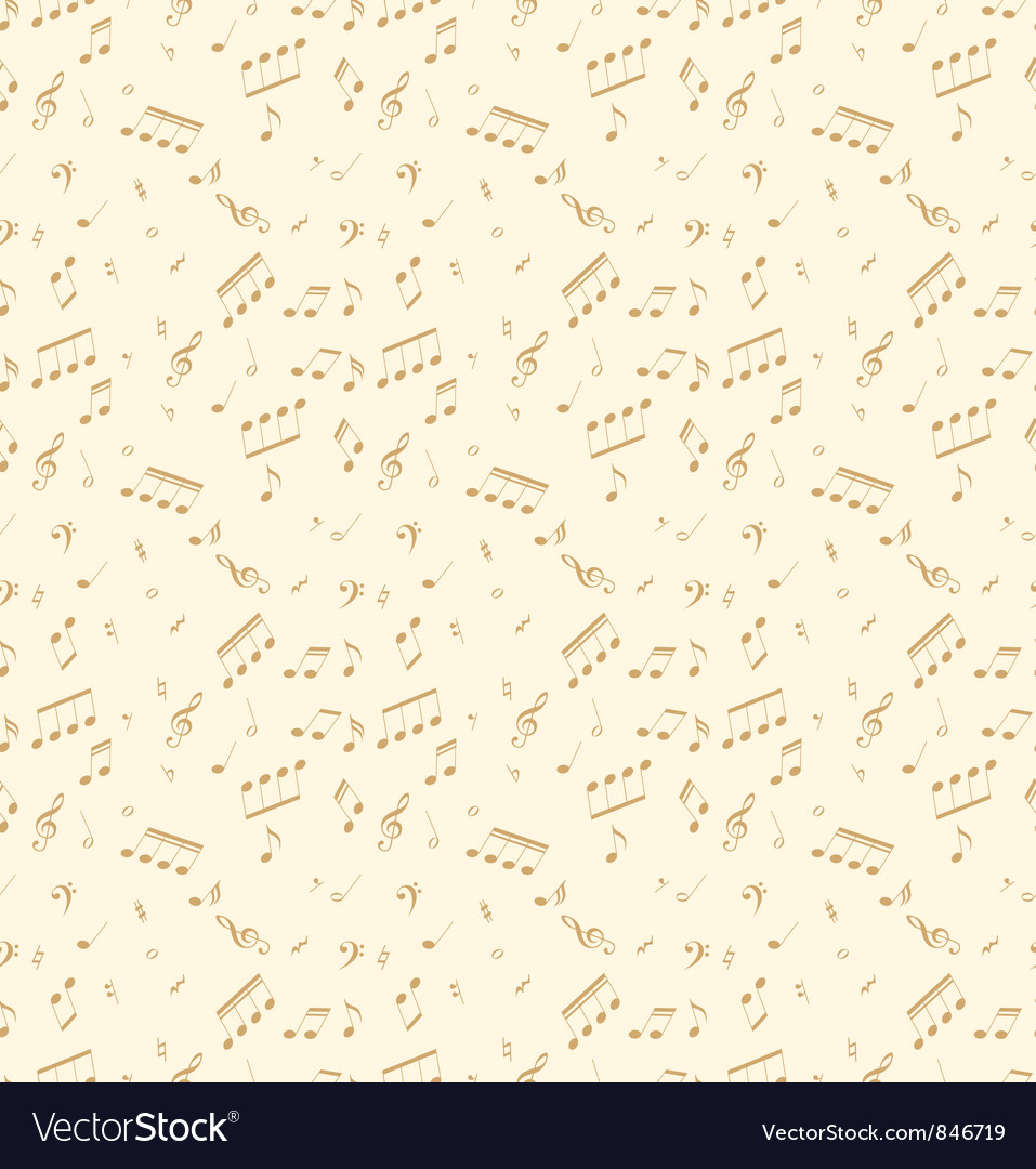 Pattern With Music Symbols Royalty Free Vector Image