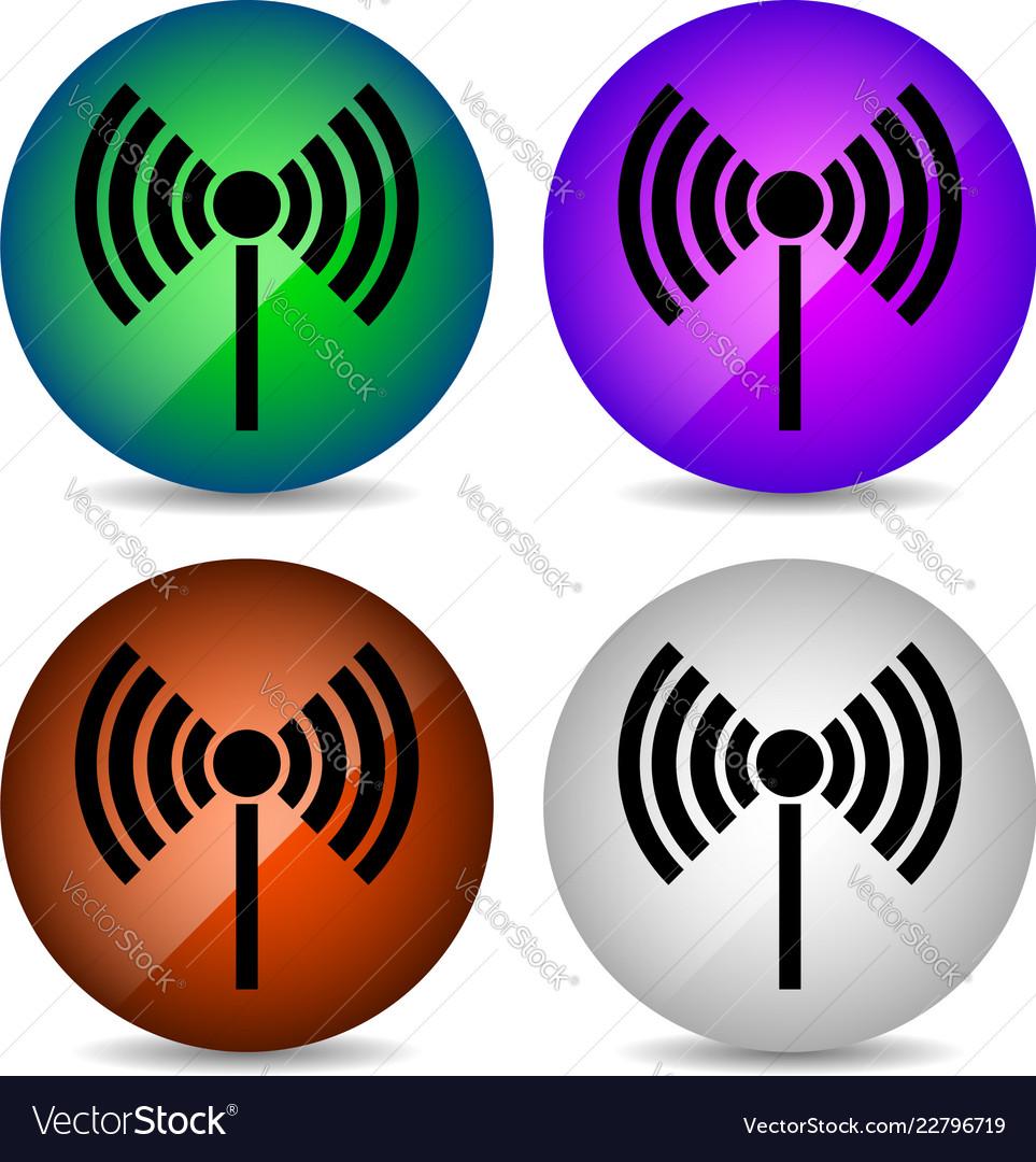 Radio tower radio transmission wireless vector image on VectorStock