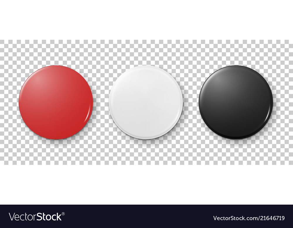 Realistic 3d empty graphic red white and black