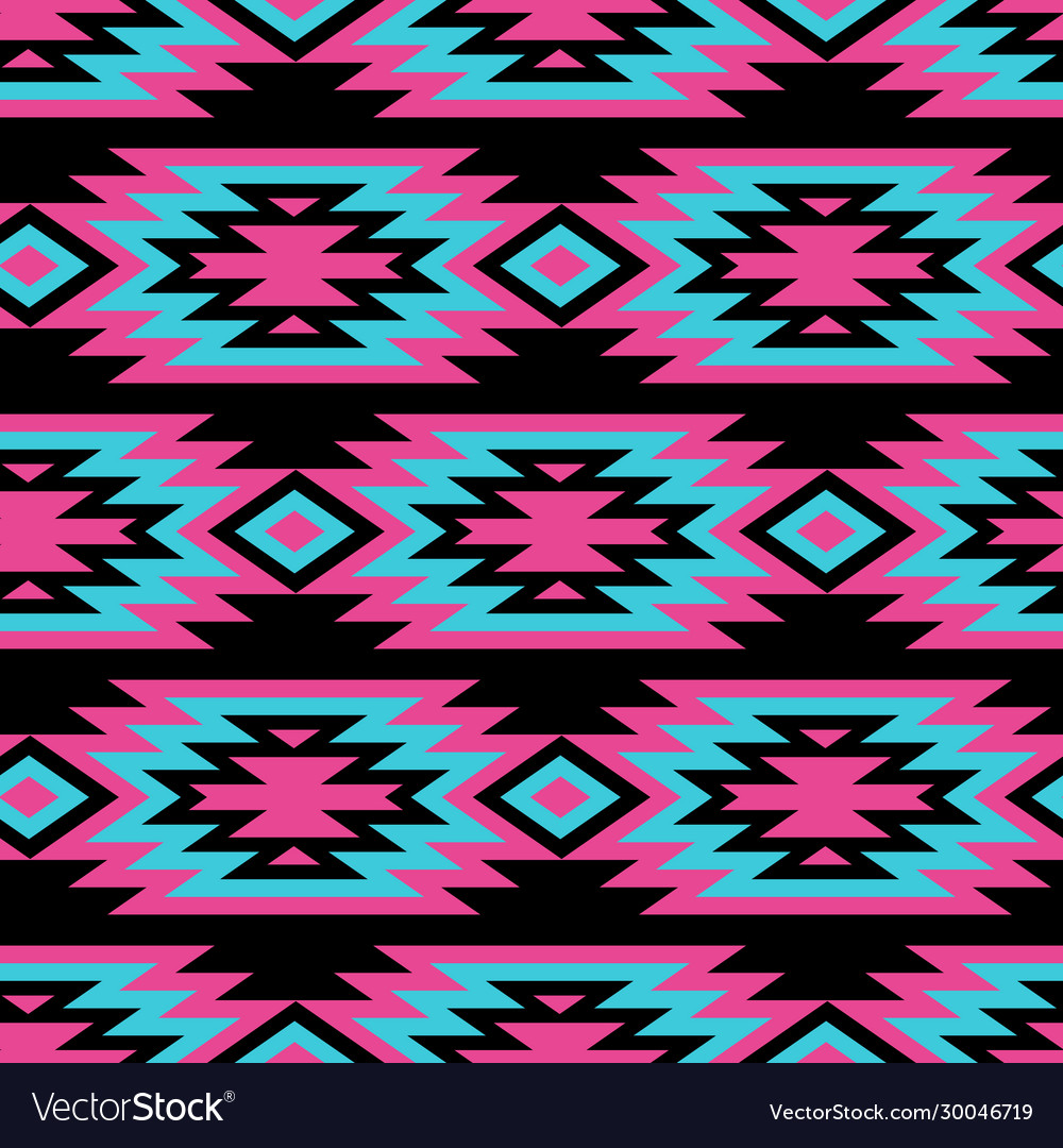 Seamless decorative ethnic pattern american vector