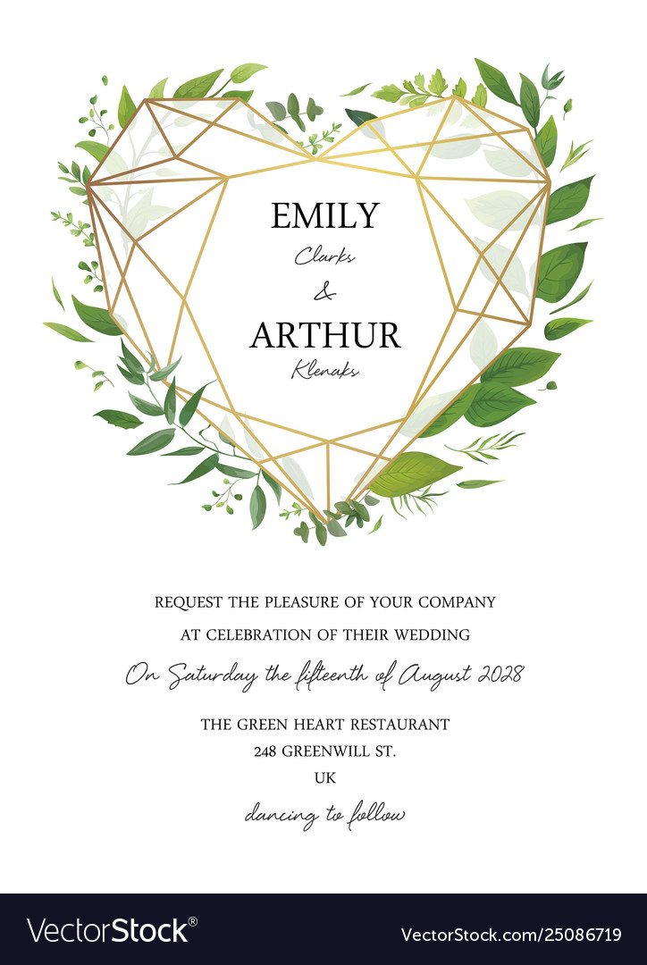 Wedding Floral Cute Invite Invitation Card Design