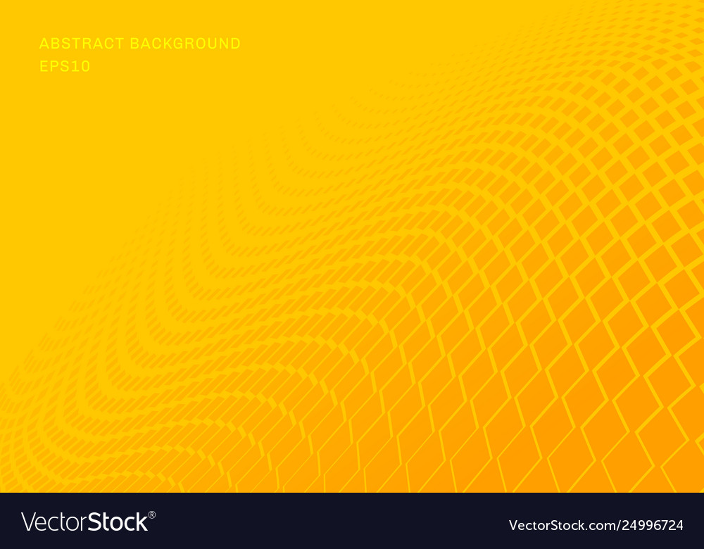 Abstract gradient yellow squares wave pattern