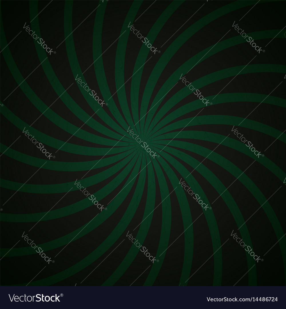 Green and black spiral vintage vector image