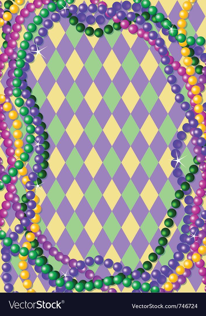 Mardi gras beads vector image
