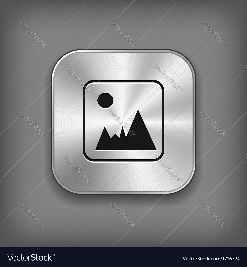 Photography icon - metal app button