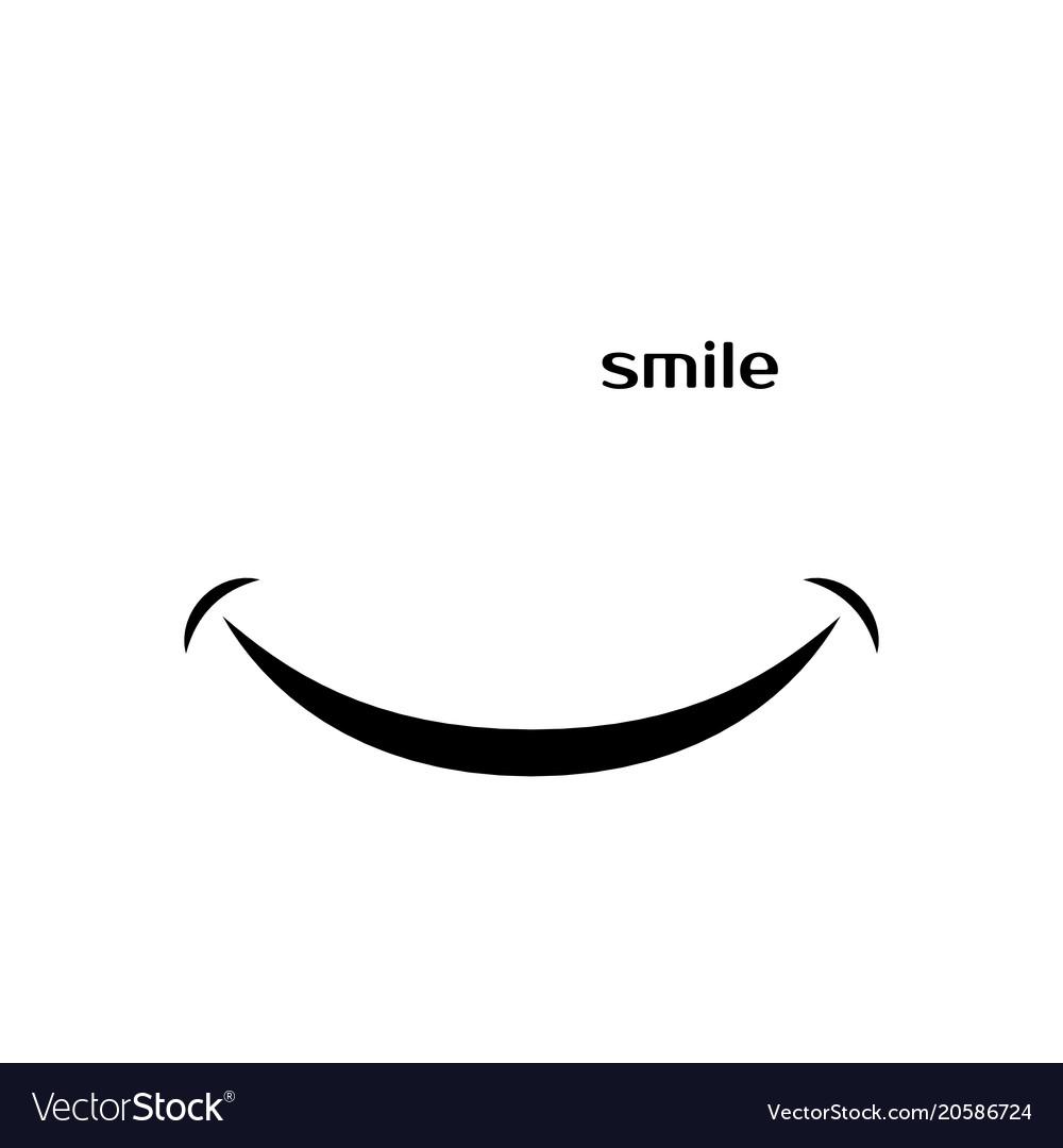Smile Icon On White Background Isolated On White Vector Image