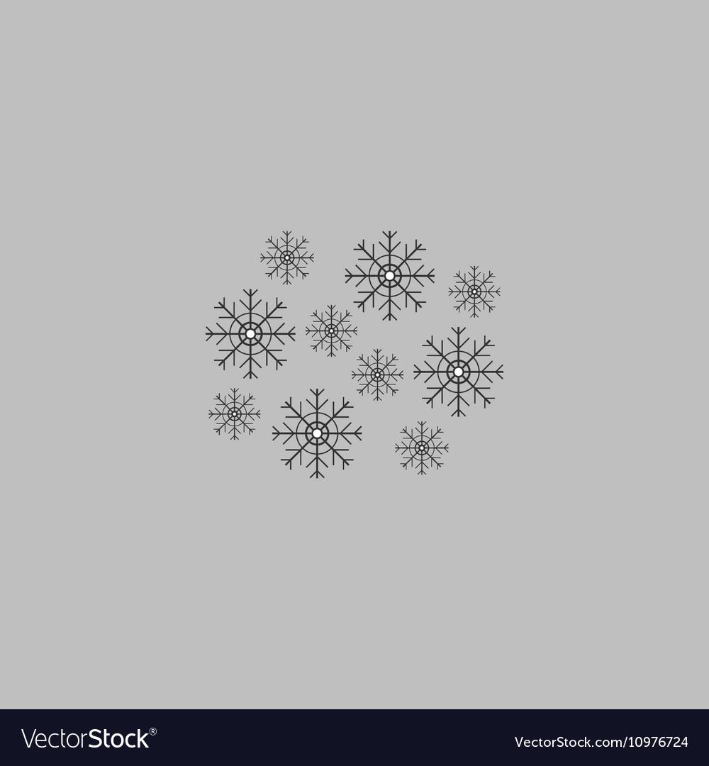 Snowflakes computer symbol