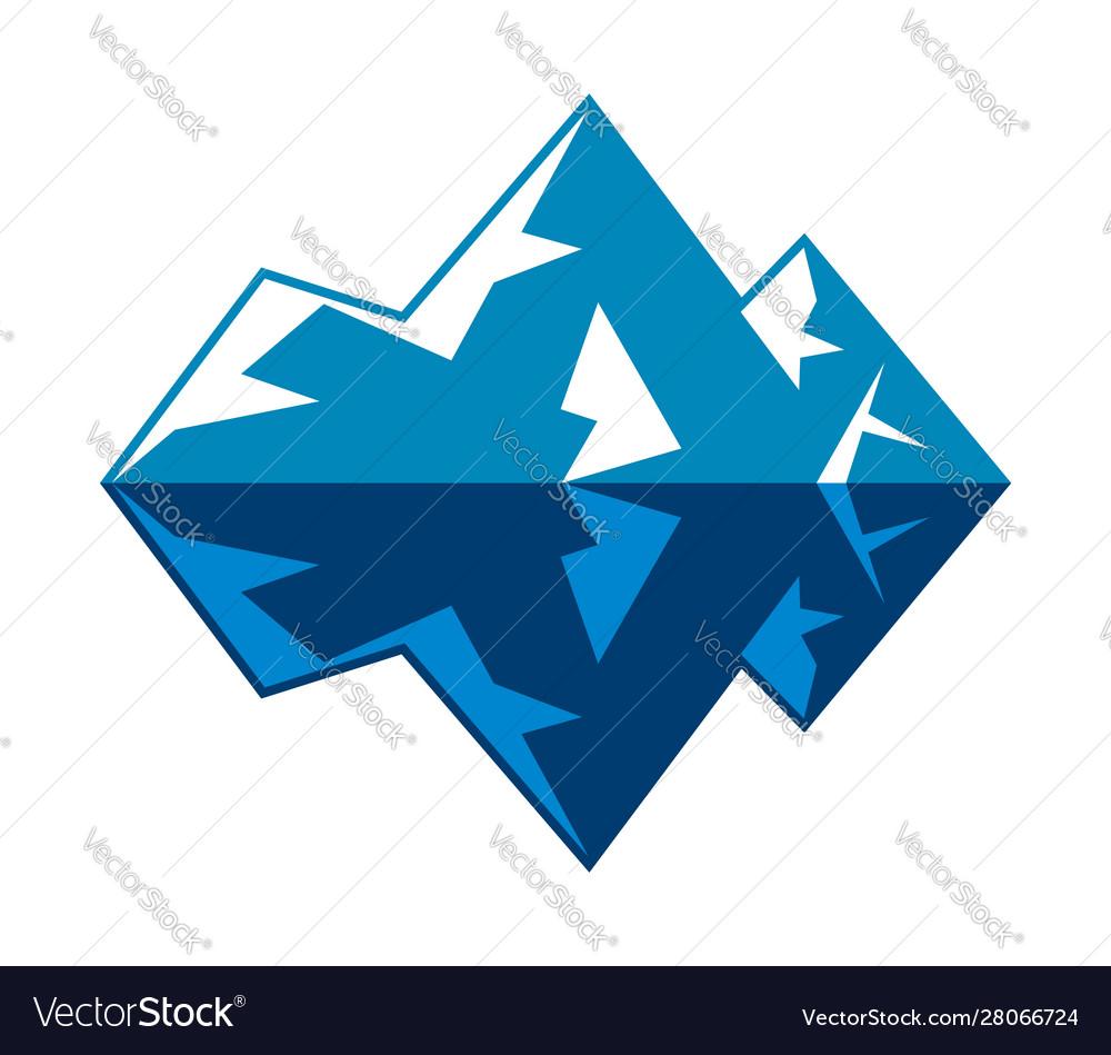 Symbol arctic winter ice mountain iceberg