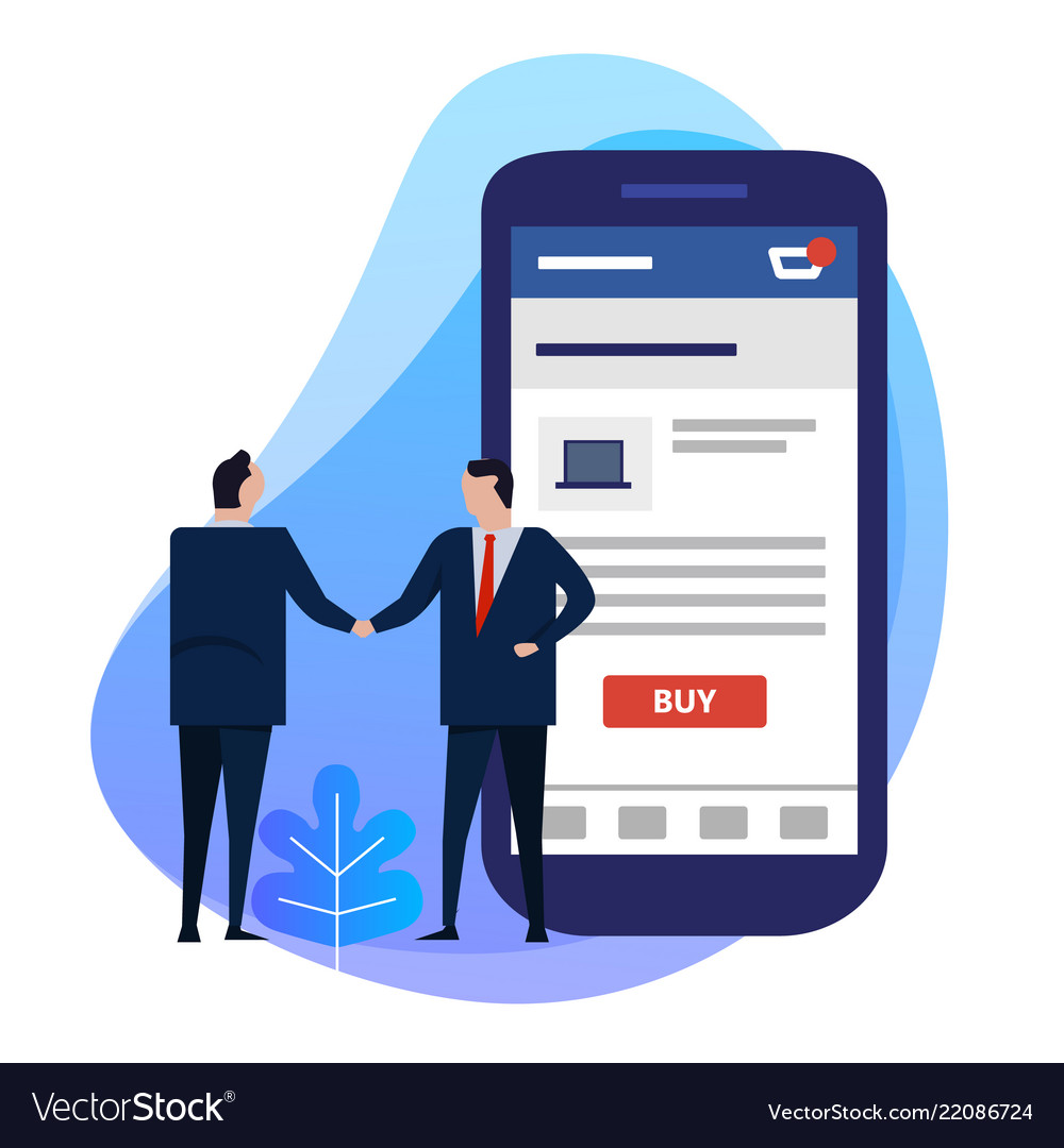 Using smart phone app for e-commerce with buy