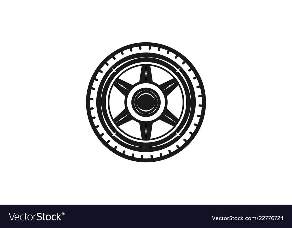 Wheel logo designs inspiration isolated on white