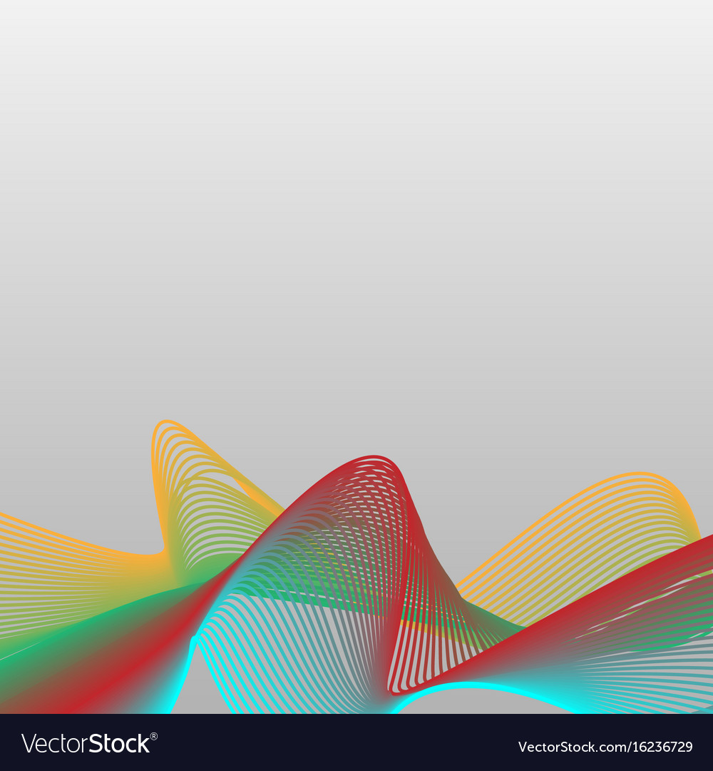 Abstract colorful wave curve line background vector image
