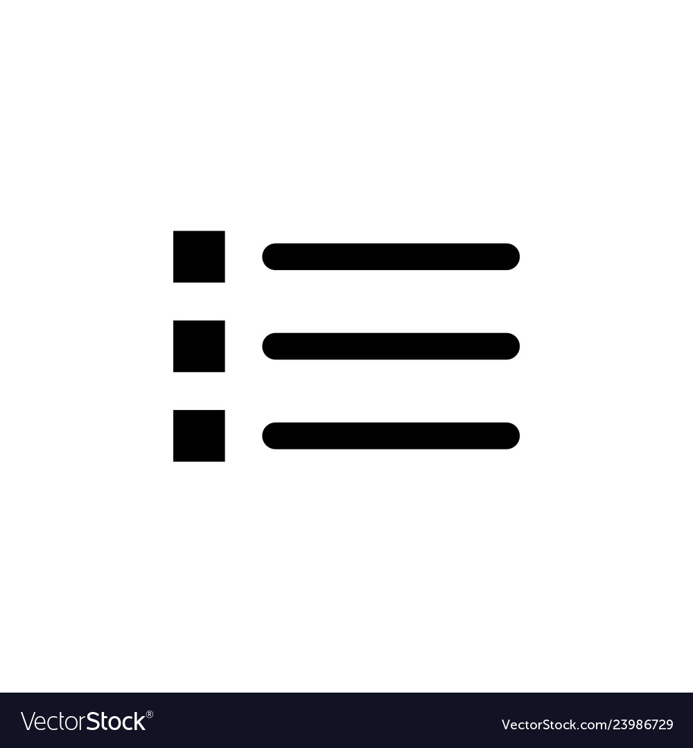 Bullet list icon signs and symbols can be used