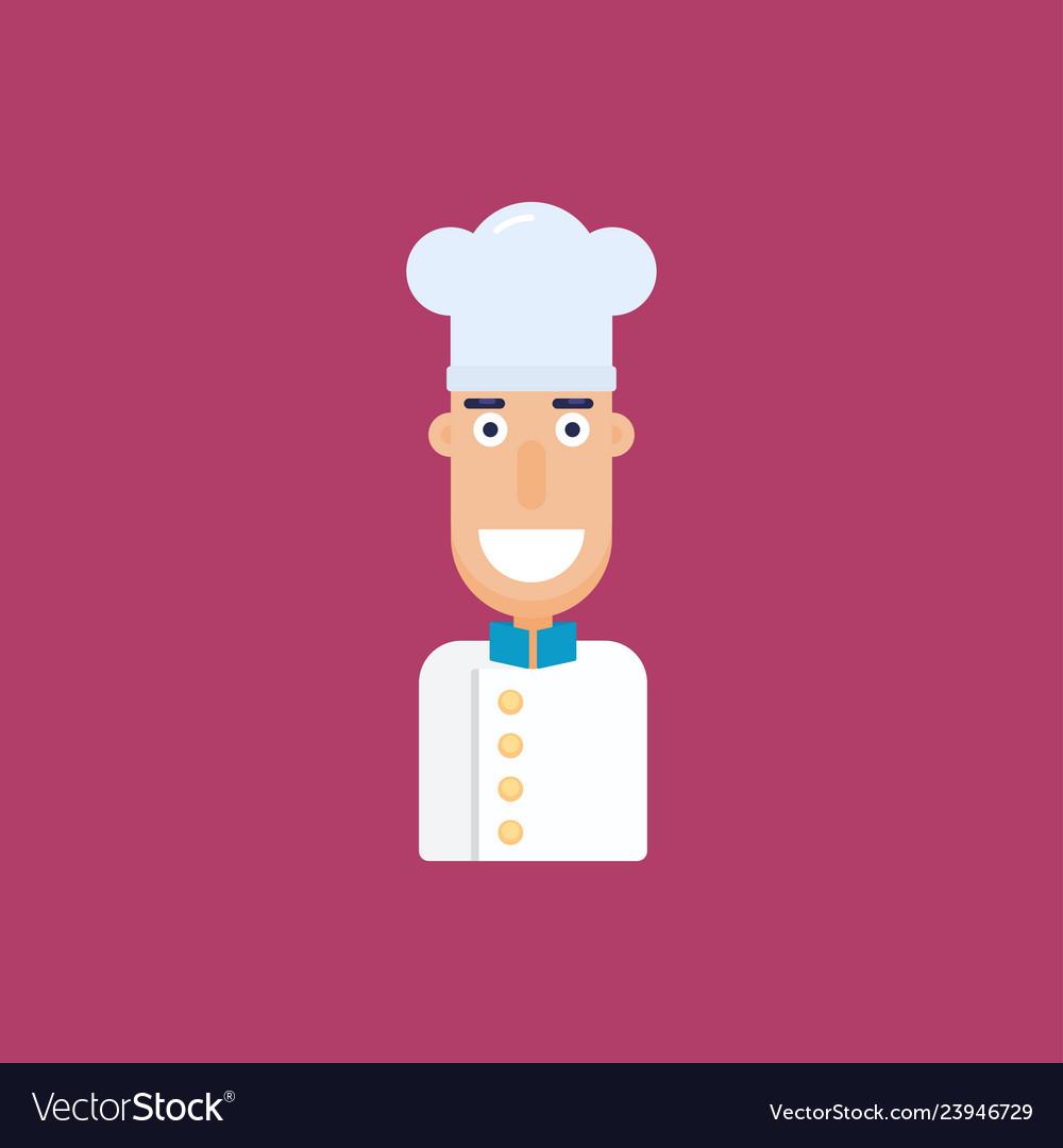 Chef flat cartoon