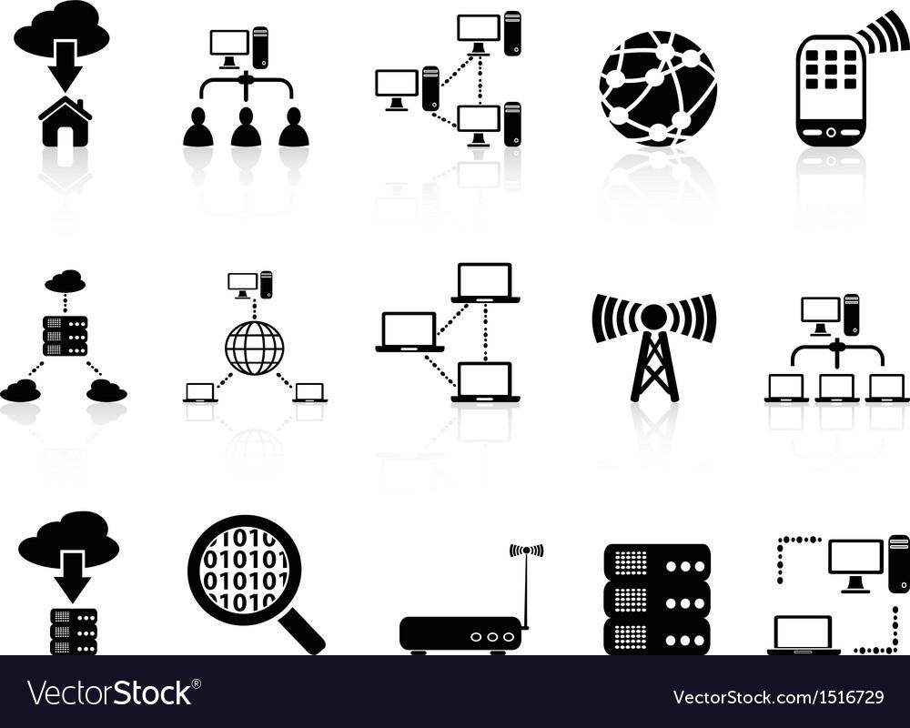 Computer communication icons set