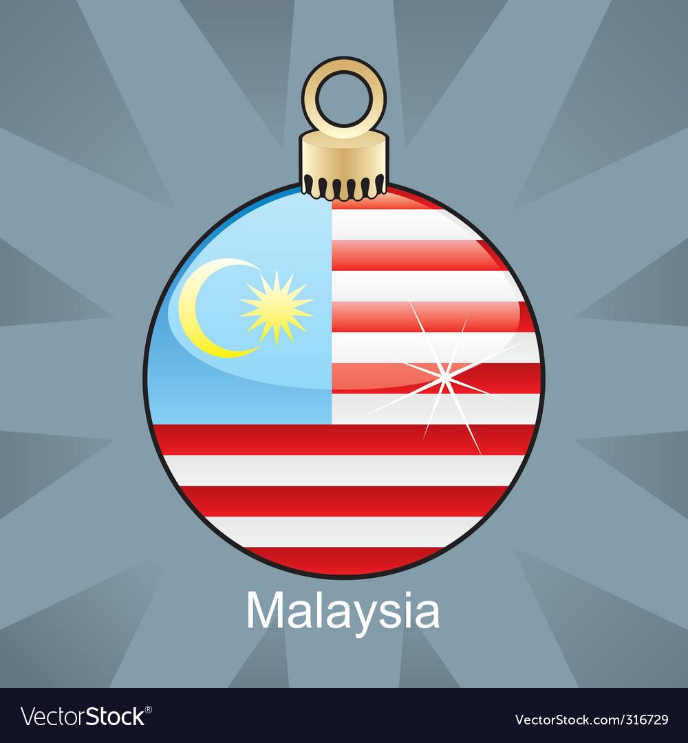 Malaysia flag on bulb vector image