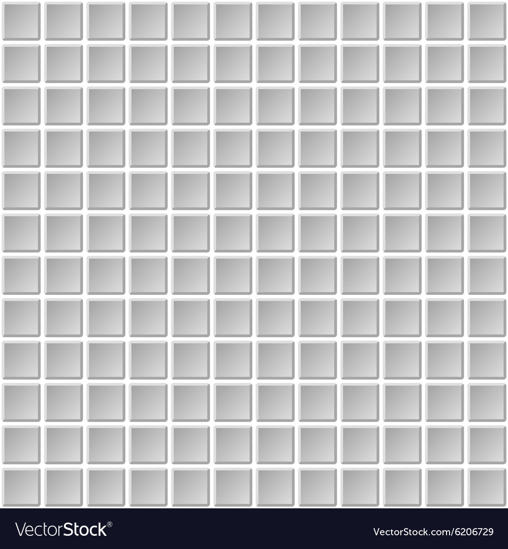 Seamless Mosaic Tiles Texture with White Filling