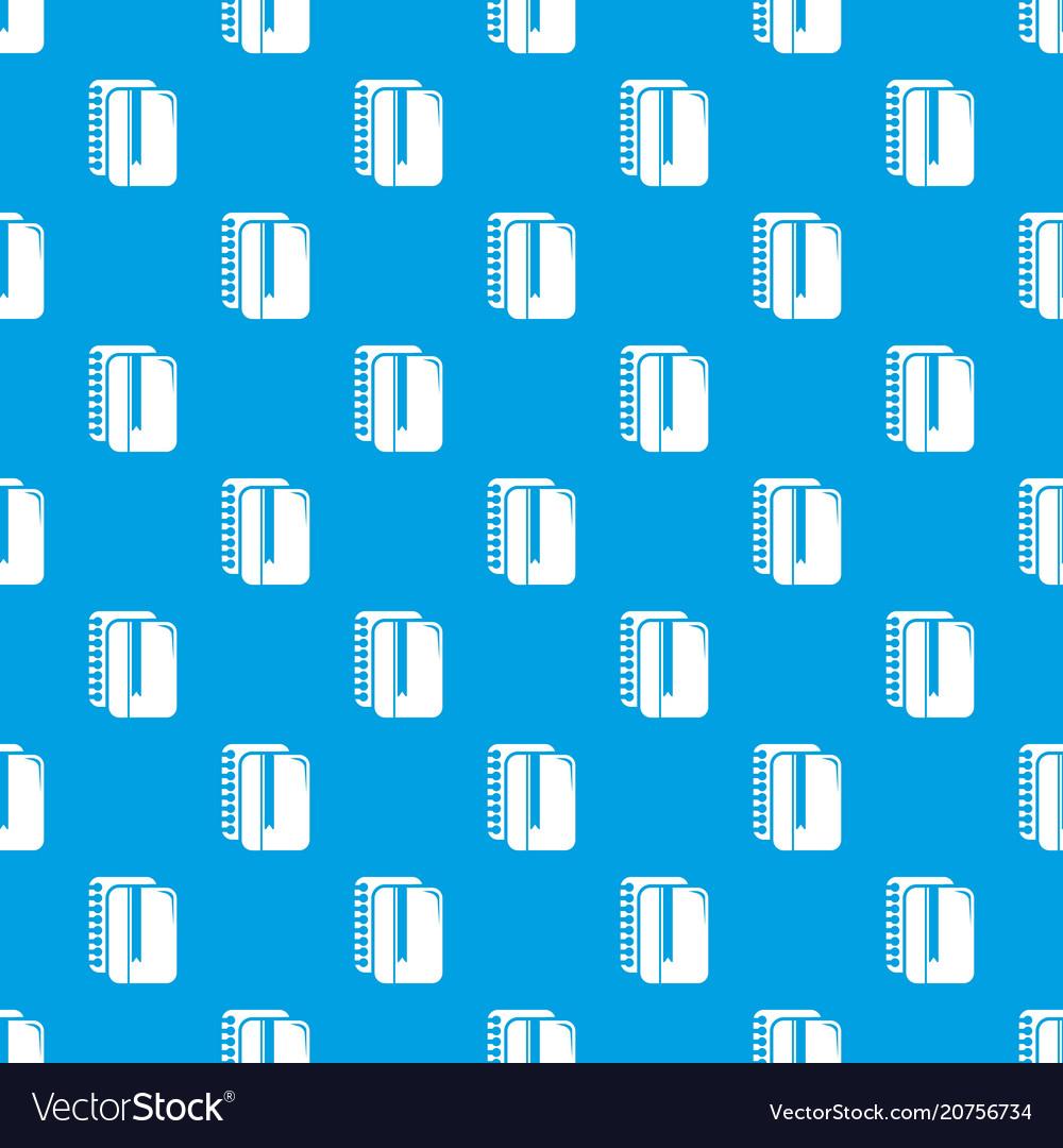 Copy book pattern seamless blue
