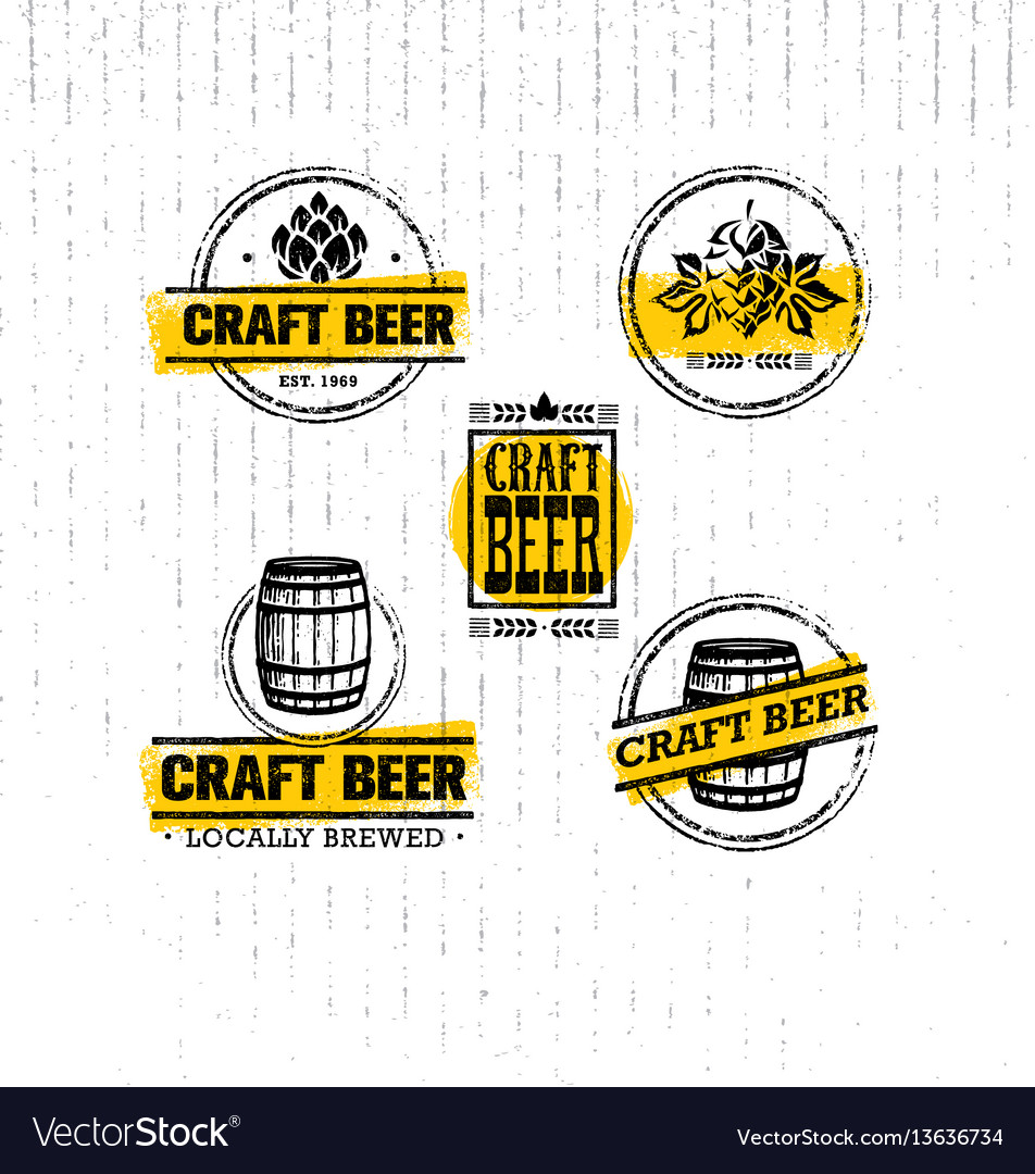 Craft beer sold here rough banner artisan