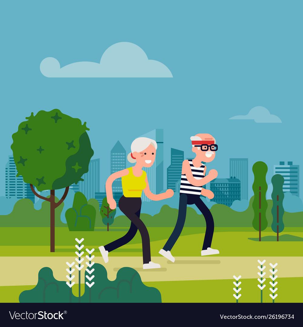 Elderly fitness concept