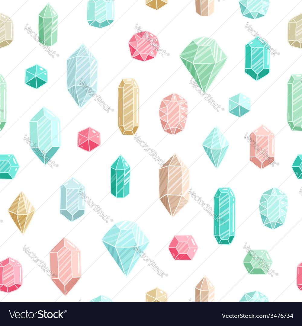 Gemstones seamless pattern