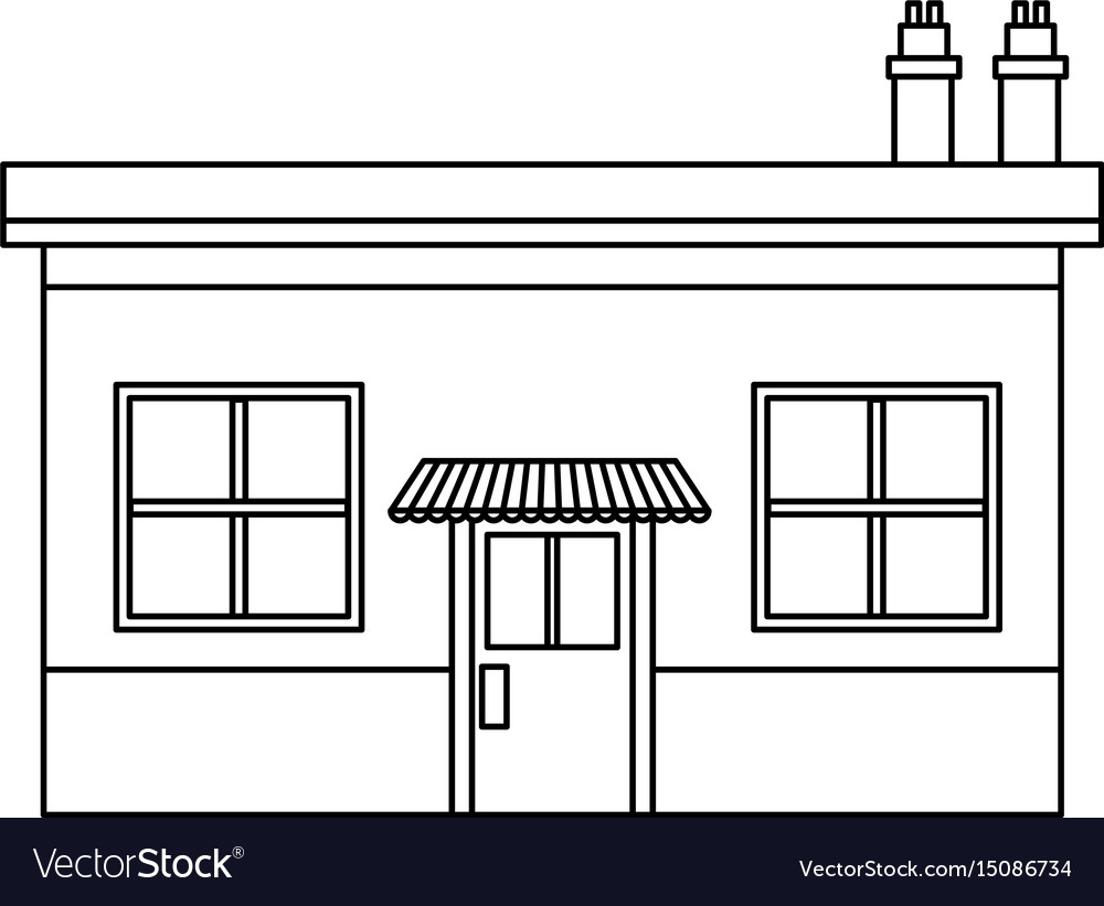 Market shopping city real estate place vector image